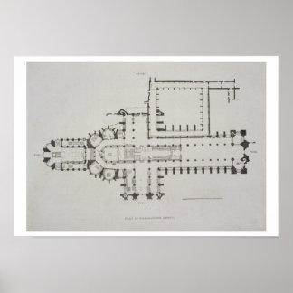 El plan de la abadía de Westminster, platea 1 de ' Póster