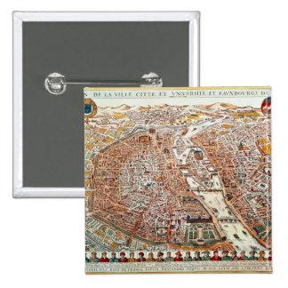 El plan de París confinó por un cronológico Pin Cuadrado