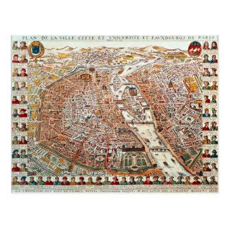 El plan de París confinó por un cronológico Postales