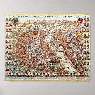 El plan de París confinó por un cronológico Póster