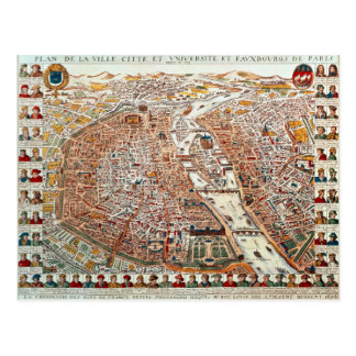 El plan de París confinó por un cronológico Tarjetas Postales