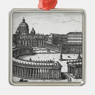 El plan original de Bernini para el cuadrado de Sa Ornamento Para Reyes Magos