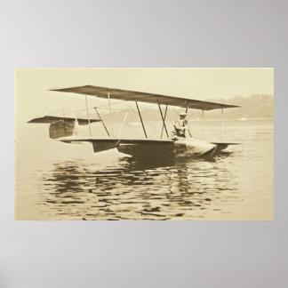 El planeador de Curtiss antes saca Póster