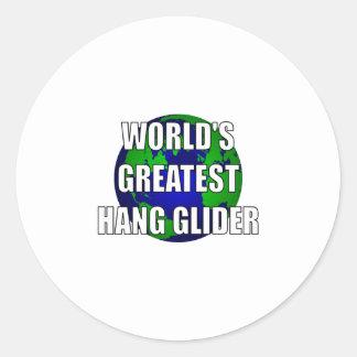 El planeador de la caída más grande del mundo etiqueta redonda
