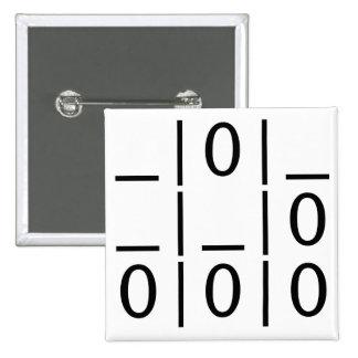 El planeador: Un botón universal del emblema del p Pin Cuadrado