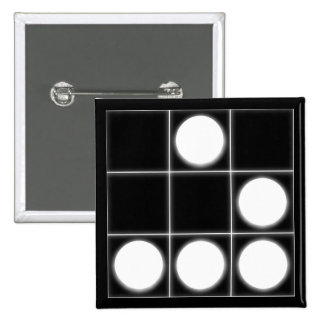 El planeador: Un pirata informático universal Embl Pin Cuadrada 5 Cm