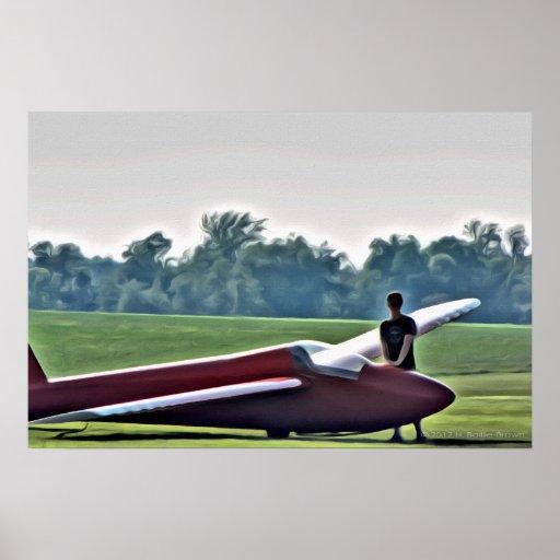 El planeador y el piloto rojos poster