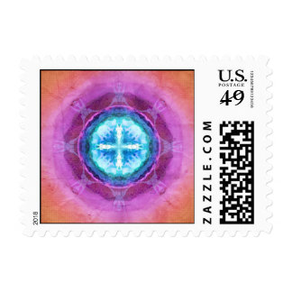 El planeta azul sello postal