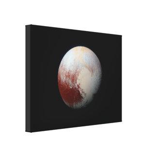 El planeta enano Plutón por New Horizons envolvió Impresión En Lona Estirada
