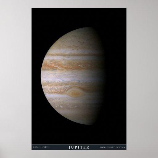 El planeta Júpiter Póster