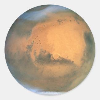 El planeta Marte Etiquetas Redondas