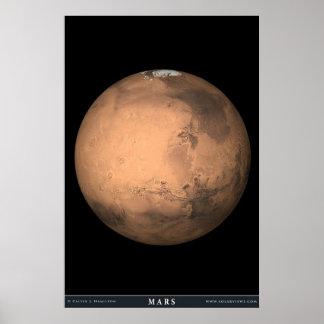 El planeta Marte Póster