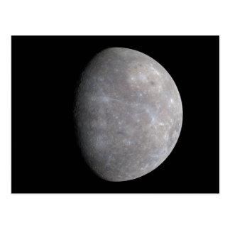 El planeta Mercury tomado por el mensajero de la Tarjetas Postales