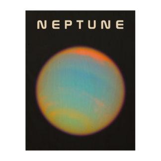 El planeta Neptuno Impresiones En Madera