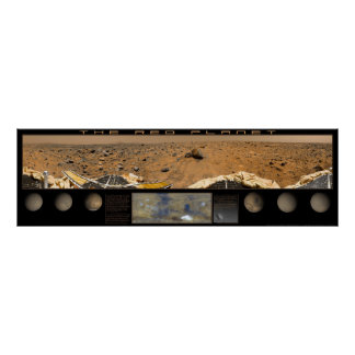 El planeta rojo: Friso estupendo del panorama Póster