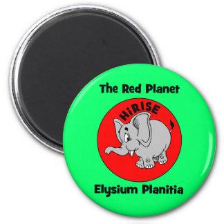 El planeta rojo imán redondo 5 cm