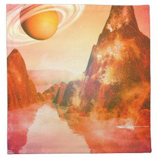 El planeta rojo servilleta