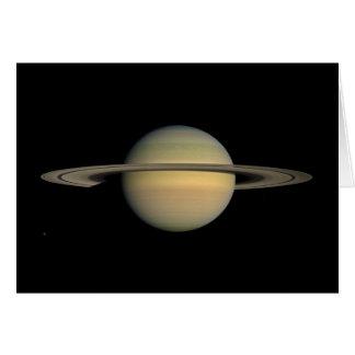 El planeta Saturn durante el equinoccio Tarjeta De Felicitación