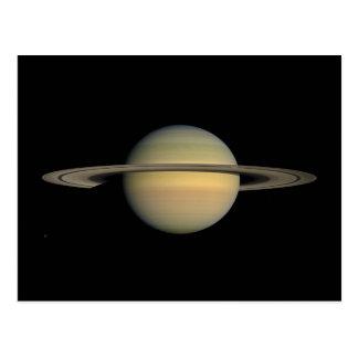 El planeta Saturn durante el equinoccio Postal