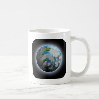 El planeta taza básica blanca