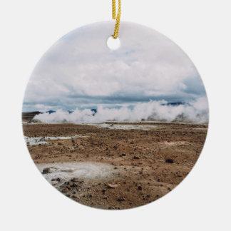 El planeta temático, tierra Fart el desierto Adorno Redondo De Cerámica