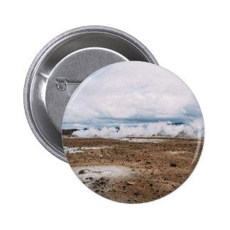El planeta temático, tierra Fart el desierto Pin Redondo 5 Cm