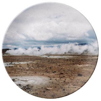 El planeta temático, tierra Fart el desierto Plato De Cerámica