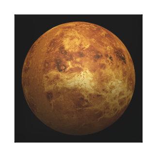El planeta Venus - efecto 3D Lona Envuelta Para Galerias