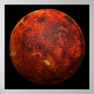 El planeta Venus - efecto 3D Poster