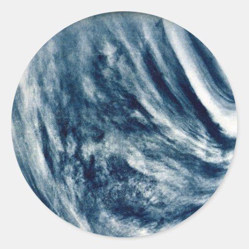 El planeta Venus Pegatina Redonda