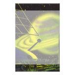 El planeta verde de neón w de la ciencia ficción d papelería