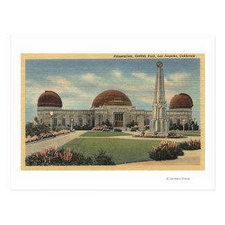 El planetario en Parque Griffith Tarjetas Postales