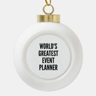 El planificador de eventos más grande de los adorno de cerámica en forma de bola