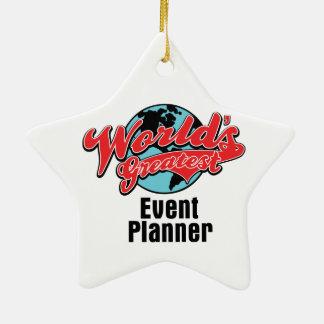 El planificador de eventos más grande de los adorno navideño de cerámica en forma de estrella
