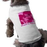 El planificador del boda camiseta de mascota