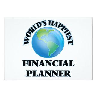 El planificador financiero más feliz del mundo invitación 12,7 x 17,8 cm