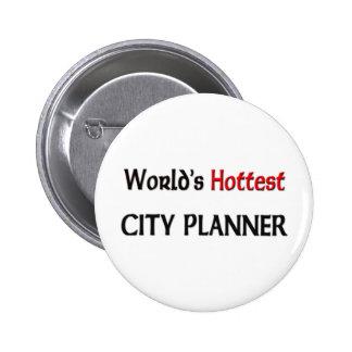 El planificador más caliente de la ciudad de los pin redondo de 2 pulgadas