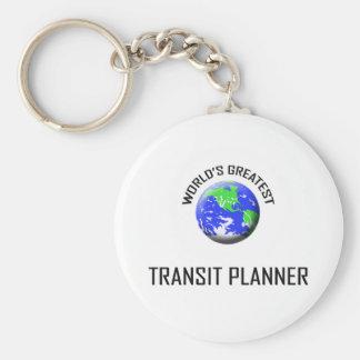 El planificador más grande del tránsito del mundo llaveros