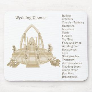 El planificador Mousepad del boda Alfombrillas De Raton