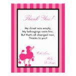 el PLANO 4x5 le agradece cardar el caniche rosado  Invitaciones Personales