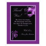 el PLANO 4x5 le agradece cardar la lila de la púrp Invitación Personalizada