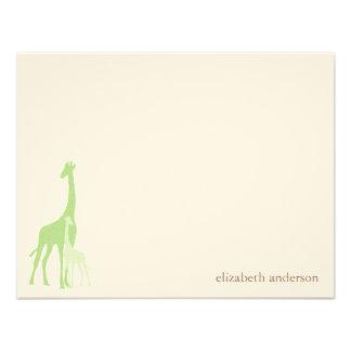 El plano de la jirafa de la mamá y del bebé le agr comunicado personalizado