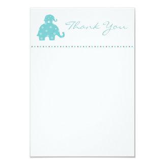 El plano de la mamá y del elefante de los azules invitación 8,9 x 12,7 cm