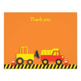 """El plano del camión de la construcción le agradece invitación 4.25"""" x 5.5"""""""