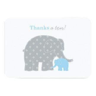 El plano del elefante le agradece la tarjeta de invitación 8,9 x 12,7 cm