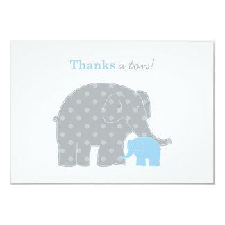 """El plano del elefante le agradece la tarjeta de invitación 3.5"""" x 5"""""""