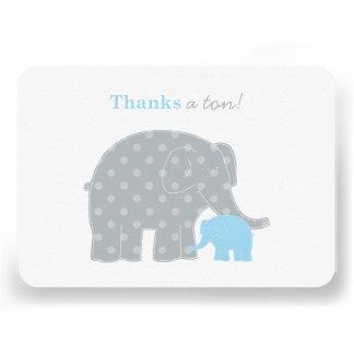 El plano del elefante le agradece la tarjeta de no