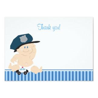 """El plano del poli del bebé del oficial de policía invitación 4.5"""" x 6.25"""""""