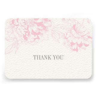 El plano le agradece carda diseño floral rosado de anuncios personalizados