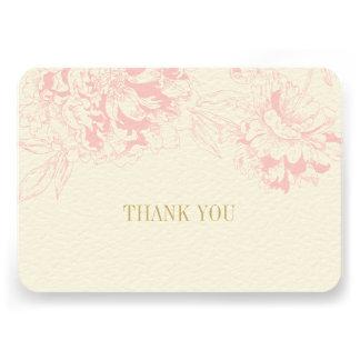 El plano le agradece carda diseño floral rosado de comunicados personalizados